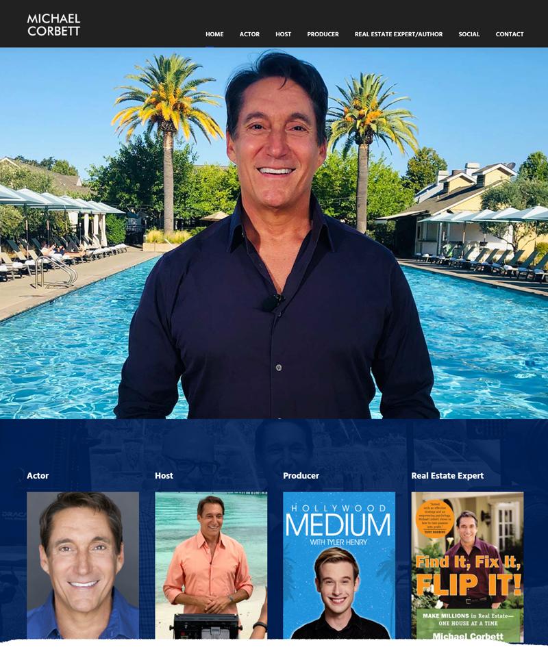 MichaelCorbett.com Website Redesign and Hosting